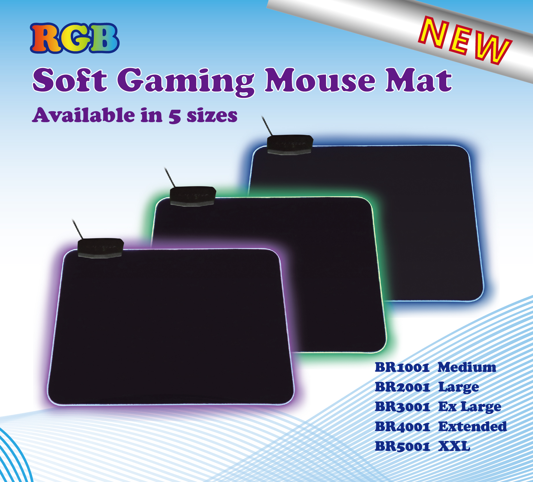 RGB Soft Gaming Mouse Mat
